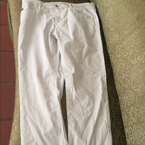Everett skinny leg Ag chinos cream NWT